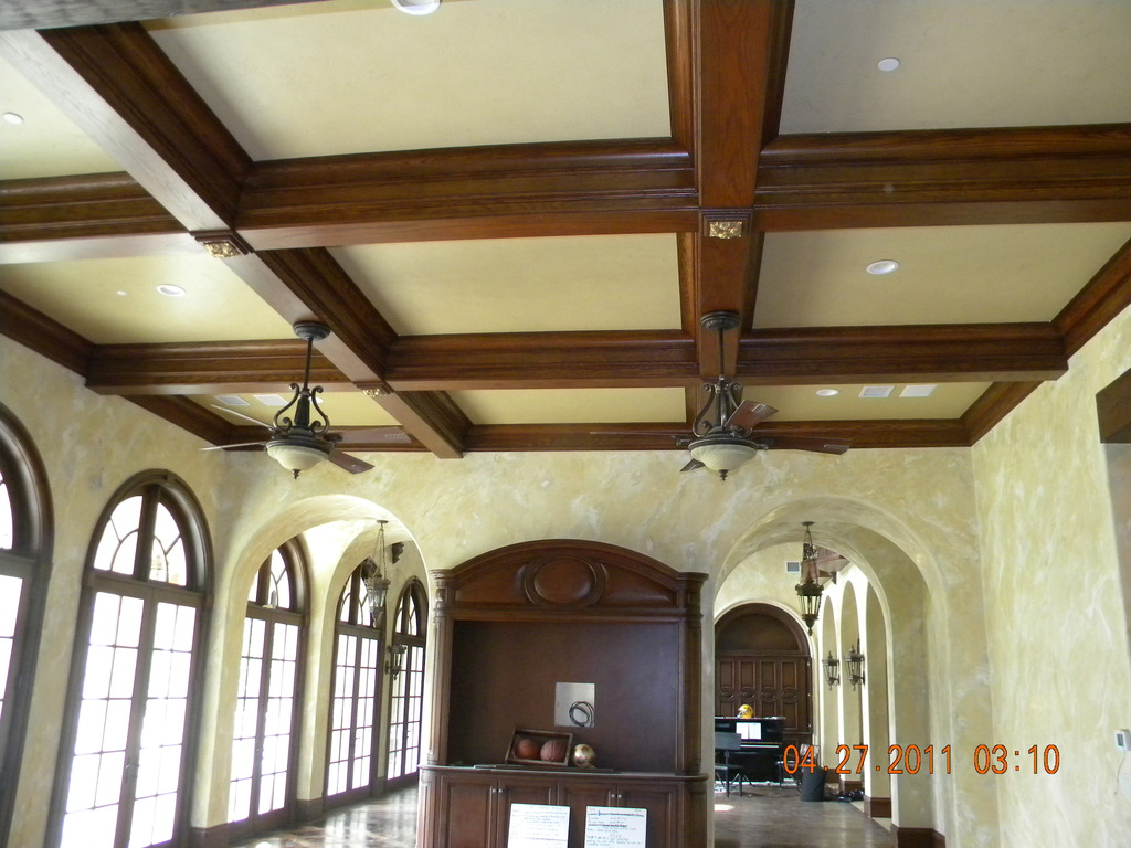 Boxed beam ceiling pictures for Foam coffered ceiling