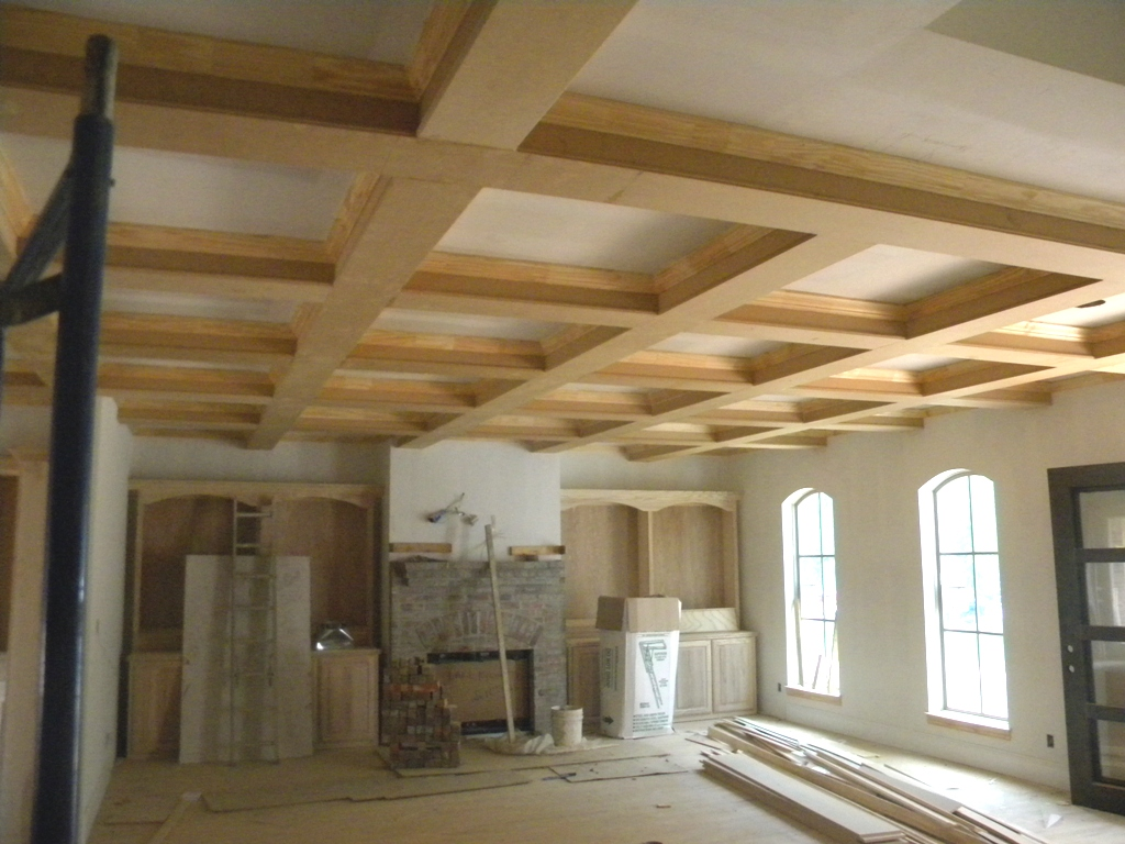 Foam coffered ceiling beams blog avie for Foam coffered ceiling